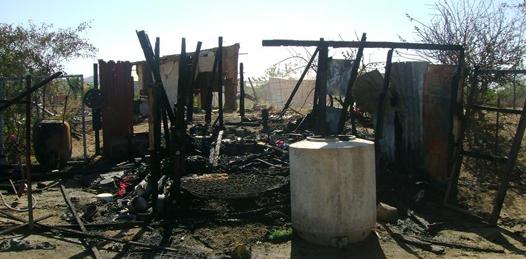 Amenazan con quemar más viviendas en predio La Ballena