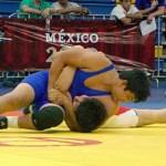 Erick Daniel Ibarra Verdugo logró medalla de oro para Baja California Sur en lucha grecorromana.