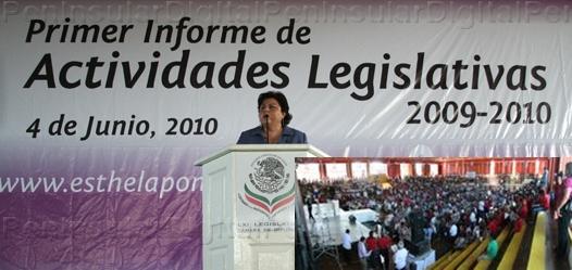 Esthela Ponce informa y pide memoria en febrero