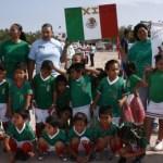 México se enfrentó a Uruguay en el Mundialito de futbol infantil que se realiza en Pumitas.