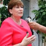 """""""A pesar de la mala situación económica por la que atraviesa el Ayuntamiento paceño se han impulsado tareas de apoyo a la ciudadanía"""", Rosa Delia Cota Montaño."""