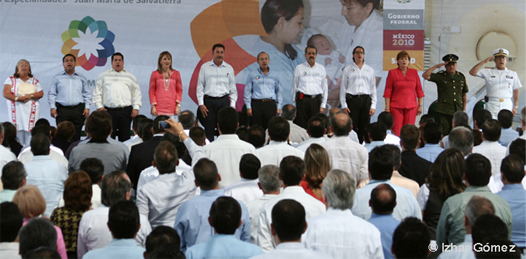 Inaugura el presidente el hospital General Juan María de Salvatierra