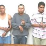 Noé Catarino Cosio Carballo, Javier Reyes Rojas, y Carlos Armando Márquez Beltrán.