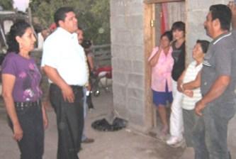 Visita legislador Santillán a San Ignacio