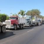 Camioneros materialistas se quejaron de ser desplazados y desempleados por Rofomex.
