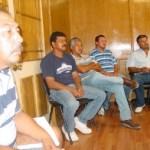 José Arce Torres y los delegados de equipos se inconformaron porque La Paz le quitó la sede del torneo estatal de béisbol a Santa Rosalía. Foto Víctor Flores Ojeda.