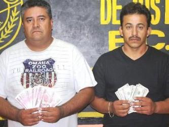 Se daban la gran vida pagando con pesos y dólares falsos