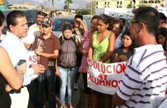 Pierden  tres semanas de clases alumnos del COBACH Las Palmas por falta de escuela