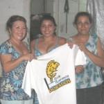 Karla Elizabeth Rivas González tuvo una convivencia con un grupo de niños pertenecientes al Club Dorados del Gimnasio de Usos Múltiples.