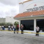 La Policía Ministerial Acordonó el edificio de agua potable para evitar el acceso de clientes después de descubrir misterioso robo.