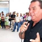 El secretario general del Sindicato de Burócratas, Rubén Meza Cota.