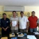 El domingo 10 de octubre se registró Alberto Meza Maclish, como precandidato del PRD a diputado del distrito XIV.
