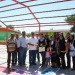 Entregan recursos para techumbre en el jardín de niños Benito Juárez