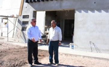 Considerable avance presenta la construcción de la Unidad Básica de Rehabilitación