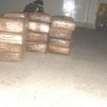 """Los """"ladrillos"""" de marihuana quedaron bajo resguardo en las instalaciones de la 3/a Zona Militar."""