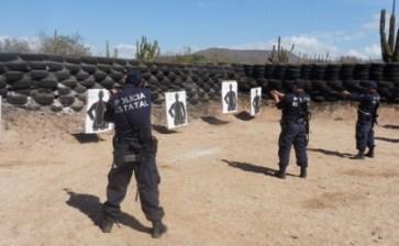 Realizan Unidades Especiales de la PEP ejercicios con armas cortas y largas