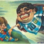 """""""Evidentemente, Messi va en camino de ser el mejor de la historia. Me alegro por él, porque es argentino y porque es un gran chico"""", dijo Maradona a radio Del Plata."""