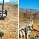 La catapulta de tres metros de alto fue encontrada a unos 20 metros (20 yardas) de la frontera con Estados Unidos en una plataforma remolcada por un vehículo, según un oficial de la 45ta zona militar del ejército mexicano en el estado de Sonora.