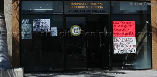 """Por """"capricho"""" del presidente del TSJ aún no les pagan a los trabajadores acusa el sindicato"""