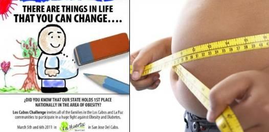 Tiene BCS el primer lugar nacional en obesidad