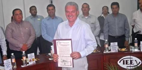 La Presidenta Ana Ruth García Grande dio por  clausurada la vigésimo sexta sesión extraordinaria de calificación de la elección y declaratoria de Gobernador Electo.