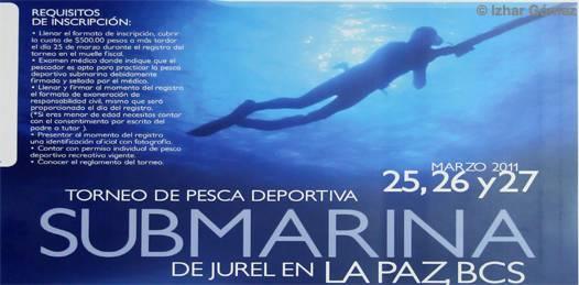 Realizarán del 25 al 27 de marzo, el Torneo de Pesca Deportiva Submarina de Jurel