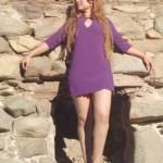 """Charina estudia el noveno cuatrimestre de la carrera de arquitectura, es saxofonista y percusionista del grupo """"Arena y Sal"""", pero sus fuerzas se hayan concentradas en el diseño textil, bajo la marca """"Sharina Fong"""", 'El Arte de Vestir en México'."""