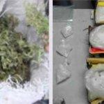 """Villanueva Delgado tenía en su poder 49 bolsas con marihuana con un peso de 450 gramos 300 miligramos y 20 envoltorios con """"crystal"""" con un gramo 900 miligramos."""