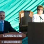 """El discurso de Marcos Covarrubias giró en torno a esta noción de humanismo en la que centró las bases de lo que será, """"una historia diferente para Baja California Sur""""."""