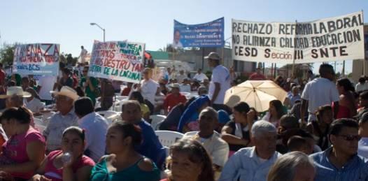 Las protestas durante la protesta