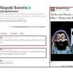 Los islamistas ultraconservadores, conocidos como salafis, calificaron de burla del islam el dibujo animado cargado por el egipcio Naguib Sawiris. Lanzaron una campaña en línea exhortando a los musulmanes en Egipto a boicotear la empresa de telefonía móvil de Sawiris, Mibinil.