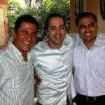De Izquierda a derecha, Fernando Patiño, Rogerio Bueno y Joel Abaroa.