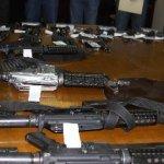 El armamento entregado consiste en 18 pistolas tipo escuadra calibre 9 milímetros, el mismo número de carabinas Colt R 15, cargadores y cartuchos.