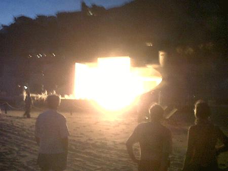 Imagen de incendio en el Hotel Capella