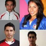 Luis Armando Andrade Guillén, Natación, Alicia Guluarte López, Canotaje, Ricardo Bocanegra Vega, Futbol y Jorge Rouco Cervantes, salto de altura.