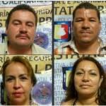 Alejandro Cruz Murillo, Gumercindo Espino Sandoval, Eufemia Castro Geraldo y Anarda del Carmen Adaya Geraldo.