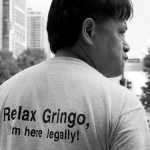 Imagen camiseta - Relax gringo, I'm here legally!