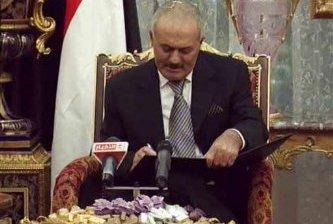 Acuerda el presidente yemení su salida del poder