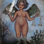 Esta serie de obras retoman el tema recurrente de Uranga, la mujer y el paisaje sudcaliforniano. Tal es el caso de su obra emblemática, Las meninas de Max, o la pieza que da nombre a la muestra, De pinta en la playita.
