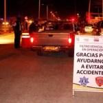 Aplican pruebas de alcoholimetría a conductores Tránsito Municipal y la Secretaría de Salud Estatal.