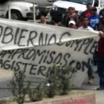 """""""Ellos , el gobierno del estado, son los culpables de esta manifestación, los han orillado, los han obligado a hacer estos tipos de actos"""", sentenció Marco Antonio Olachea González, secretario estatal de Conflictos de Secundarias Técnicas y Primarias del CEND."""