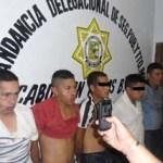 Presuntos culpables del robo a la joyería ubicada en Puerto Paraíso.