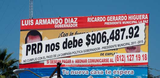 """Intentó Rosa Delia """"cobrarnos impuestos fuera de toda legalidad"""" denuncia A.P. Publicidad"""