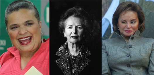 Beatriz Paredes, Margaret Tatcher y Elba Esther, los iconos de la alcaldesa