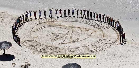 Ya tiene Greenpeace 118 mil firmas en contra del proyecto Cabo Cortés