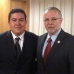 El M. en C. Gustavo Rodolfo Cruz Chávez tuvo un encuentro con el Dip. José Trinidad Padilla López, como parte de su gira de trabajo en la Ciudad de México.