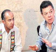 El narco desplaza al Estado dice Calderón en Perú