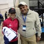 La seleccionada olímpica recibió de manos del director del Instituto Sudcaliforniano del Deporte, Octavio Molina Amarillas, el uniforme oficial de Baja California Sur.
