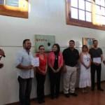 """Momento del corte del listón inaugural del Cuarto Tour de Artistas y Exposición de Arte """"Paradigmas de mi obra, en voces""""."""