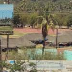 Las tropas de las fuerzas armadas y militares, instalaron su cuartel de seguridad dentro de la pista de atletismo de la Unidad Deportiva San José ´78, de esta cabecera municipal, donde mantienen un cerco de vigilancia constante y donde permanecerán asentados a lo largo de un mes.